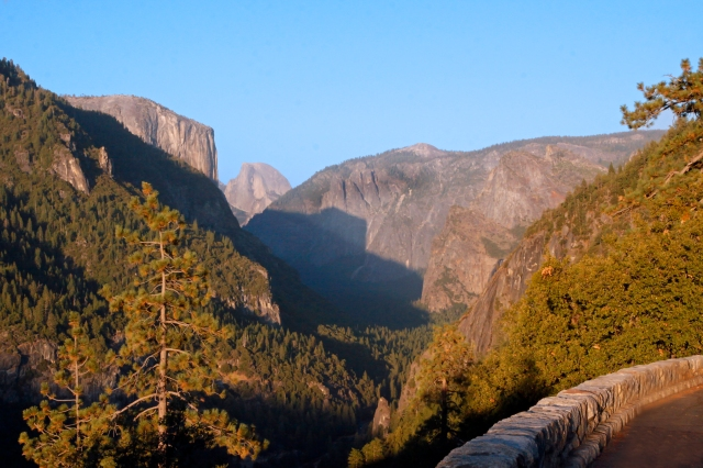 Yosemite National Park  ... This is actually quite aways from the actual entrance and there were many of these pullouts all with phenomenal views!