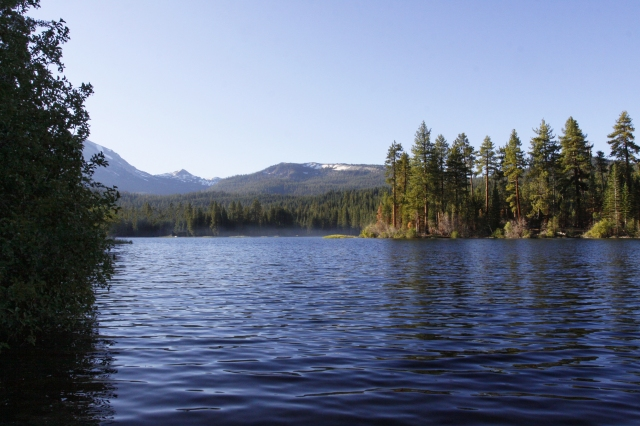 Manzanita Lake ... This lake is at the Northern exit of Lassen Volcanic National Park.