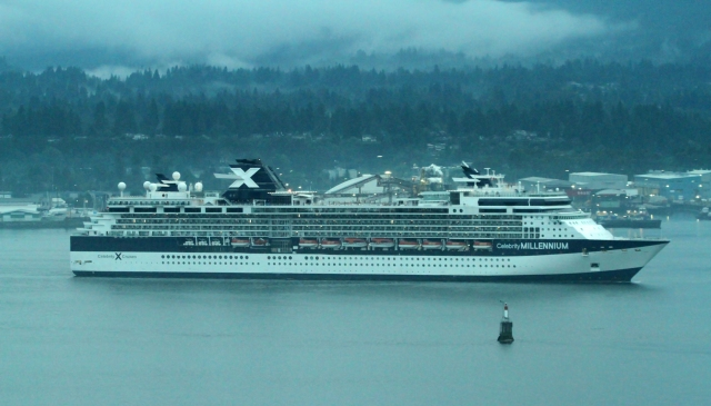 Celebrity Millennium ... This is a shot from our room in Vancouver as the ship came into port on our day of departure!