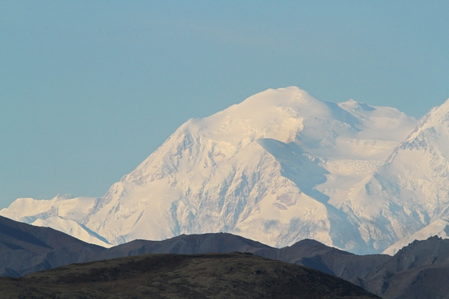 Mount Denali ... The guides say that less than 30% of the people who come to view the mountain actually get to see it and less than 5 % see it with no clouds!!