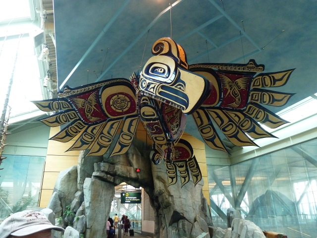 The entrance to the Vancouver Airport for non domestic flights was stunning ... neatest airport I've ever flown into!