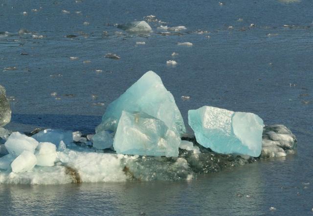 Crystal looking ice