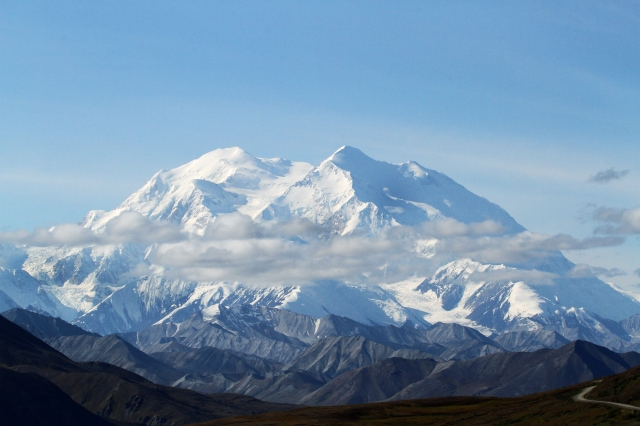 Mount Denali ... This is from about 40 miles away.