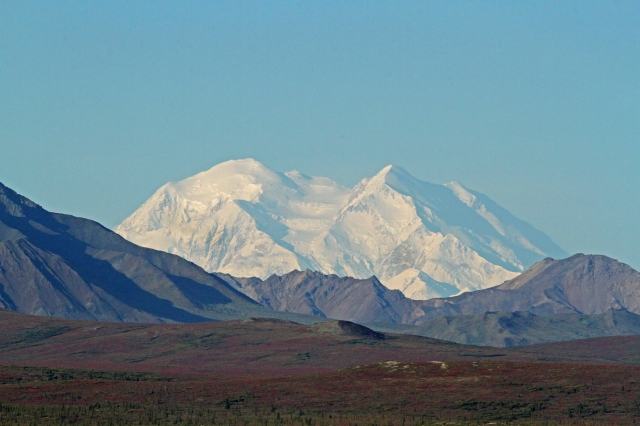 Mount McKinley is also known as Mount Denali ... This shot is from 60 some miles away.
